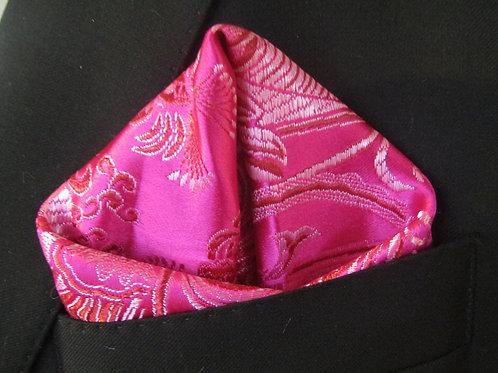 Passion Pink Pocketsquare