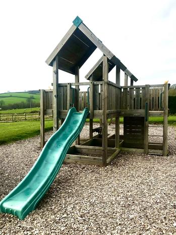 Outdoor play area Heron Cottage Devon