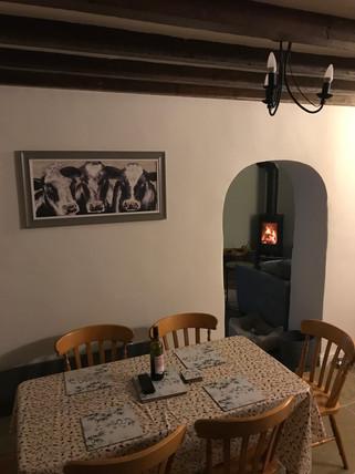 Breakfast time - Heron Cottage Newhouse Barton Devon