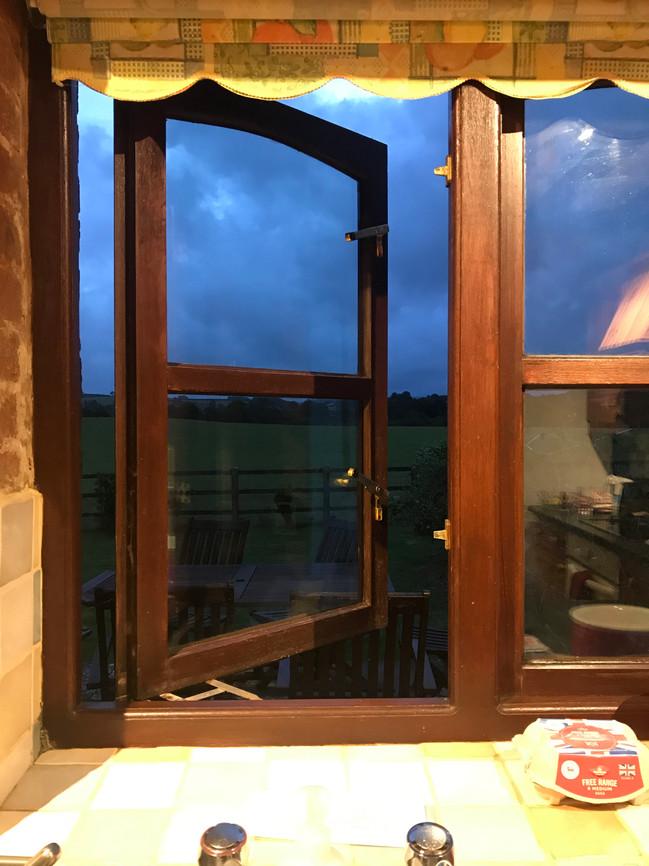 A Kitchen view - Heron Cottage Newhouse Barton Devon