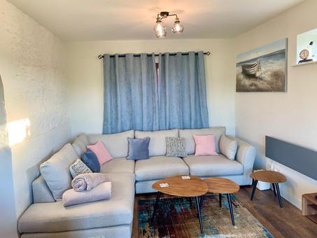 The Lounge - Heron Cottage Newhouse Barton