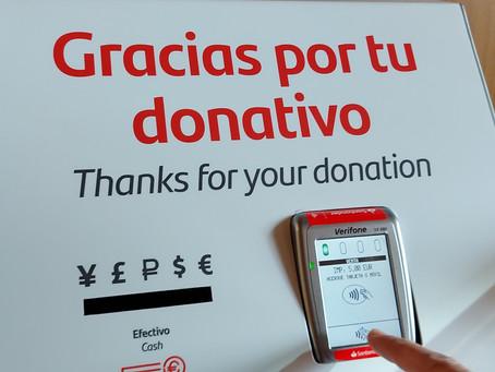 La parroquia cuenta con un TPV para donativos