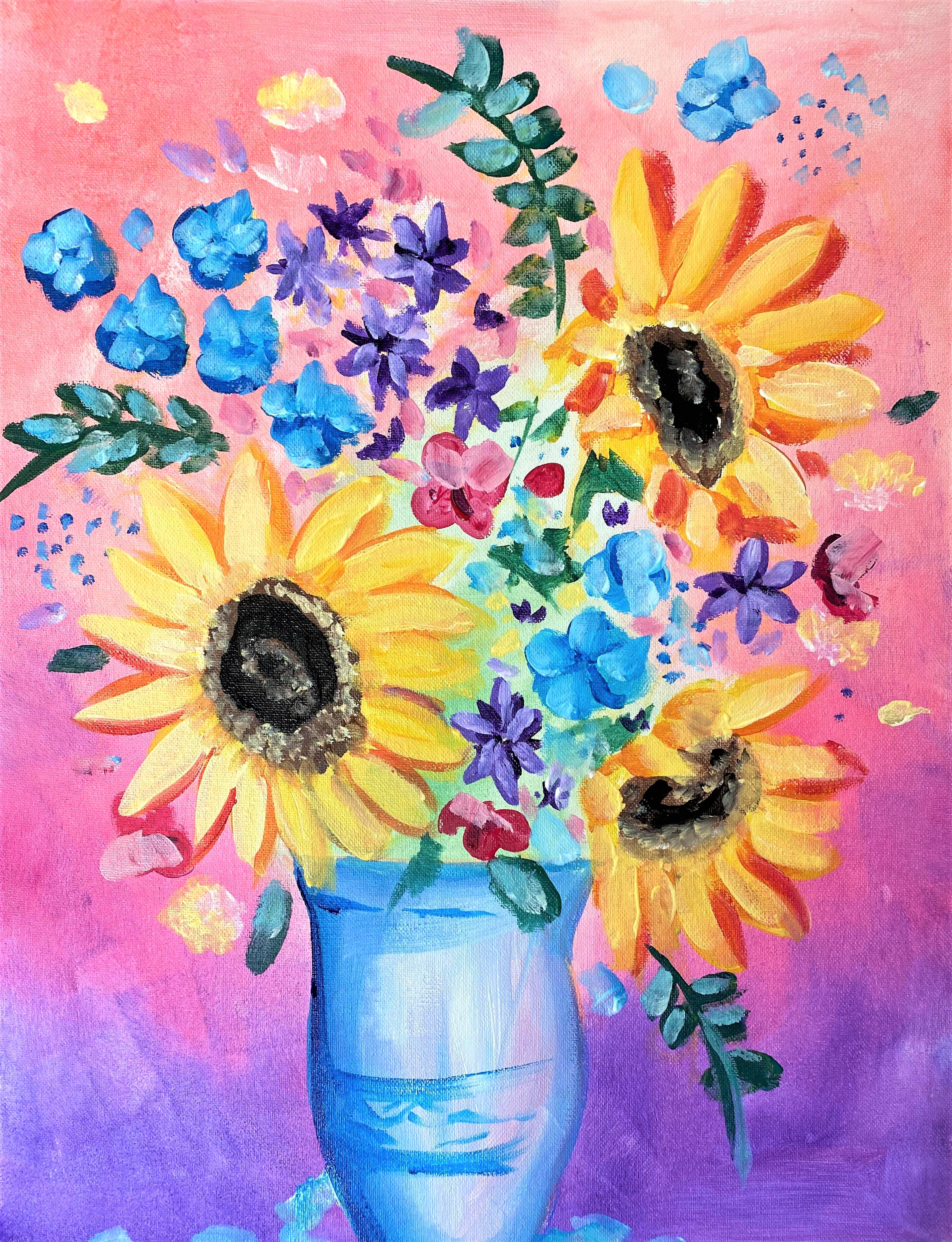 Sunflowers   Sip and Paint