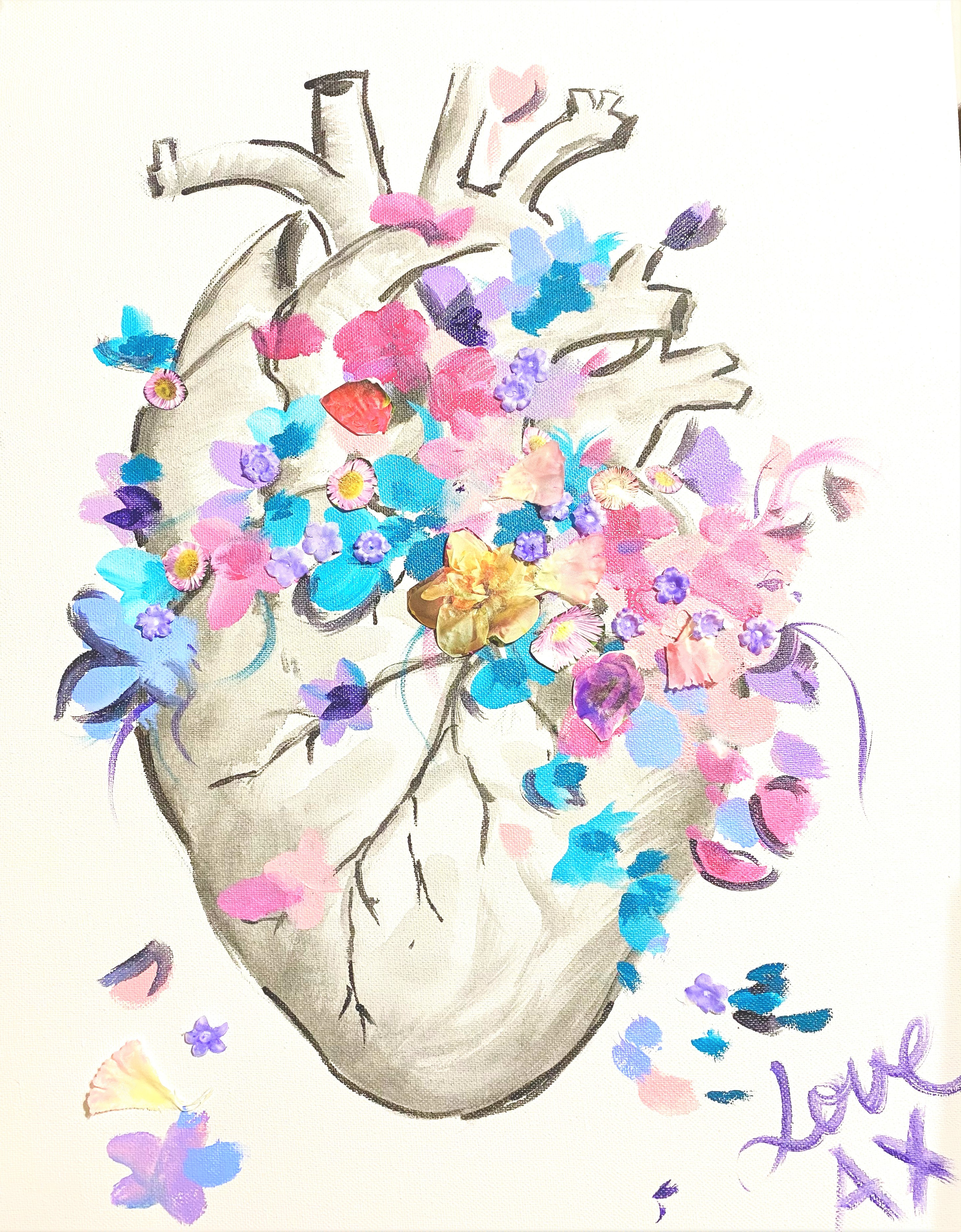 Blooming Heart | Sip and Paint