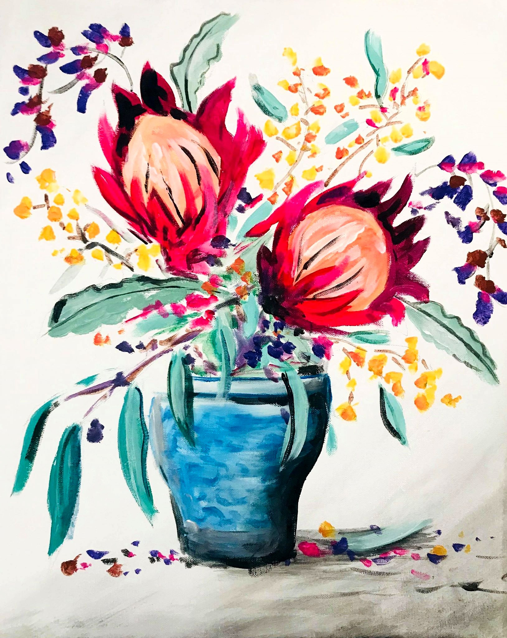 Native Botanicals   Sip and Paint