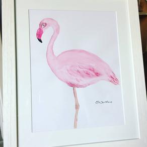 Framed Flamingo