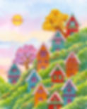 There is an air of serenity among the quaint and colorful houses nestled in the hills of Autumn Valley.