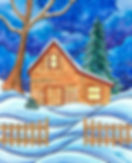 The rustic little cabin may have seen its better days but on a cold winter's night it provides warmth and comfort to the weary traveler.