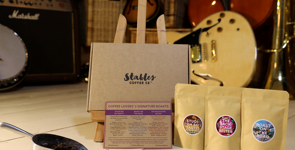 Coffee Lover's Taster Box - Stables Freshly Roasted Coffee - 3 x 50g