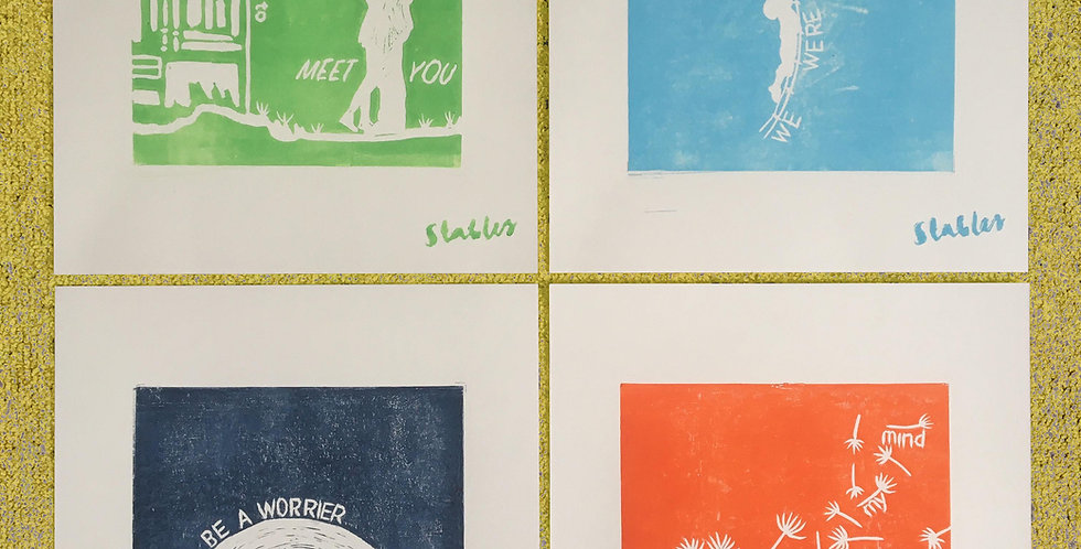 Lyric Poster Prints - Pack of 4