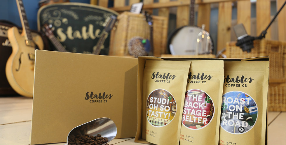 Stables Coffee Lovers Starter Pack 3 x 150g - Ground or Whole Bean