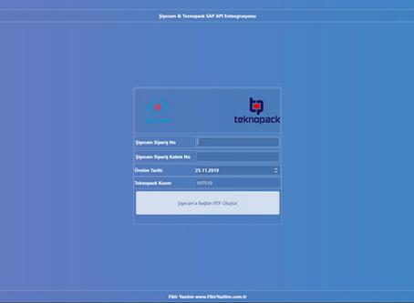 Şişecam & Tecnopack Akıllı Depo / SAP API Entegrasyonu Tamamlanmıştır.
