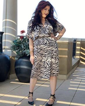 Zebra Satin Dress