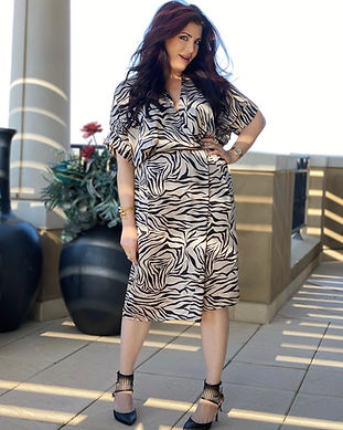 Zebra Satin Dress