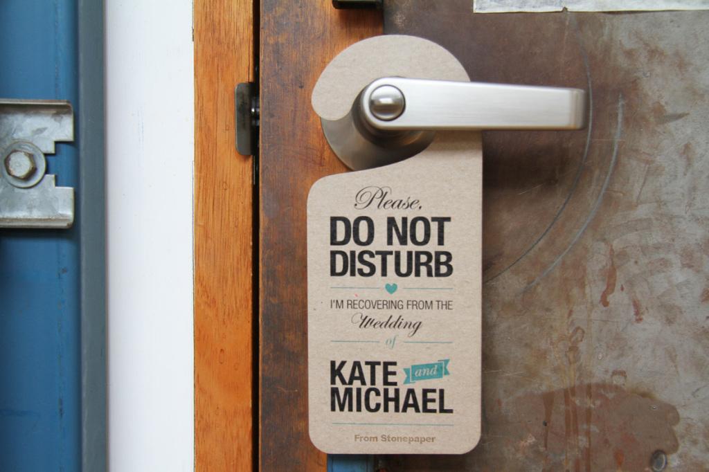 SP-StonePaper® door handle tag
