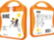 MyKit Fahrrad. Ideales Set für jeden Fahrradfahrer. Seinen Sei gut vorbereitet bei kleinen Verletzungen oder Unfällen. Inhalt: 12 wasserfeste Pflaster, 4 hautreinigende Tupfer, 2 Trockentupfer, 1 reflektierendes Band, 1 Blasenpflaster, 2 Reinigungstücher. Alle im Set enthaltenen Erste-Hilfe- und Pflegeprodukte erfüllen alle geltenden EU-Vorschriften. Preis inkl. vollfarbigem Druck. Kunststoff.
