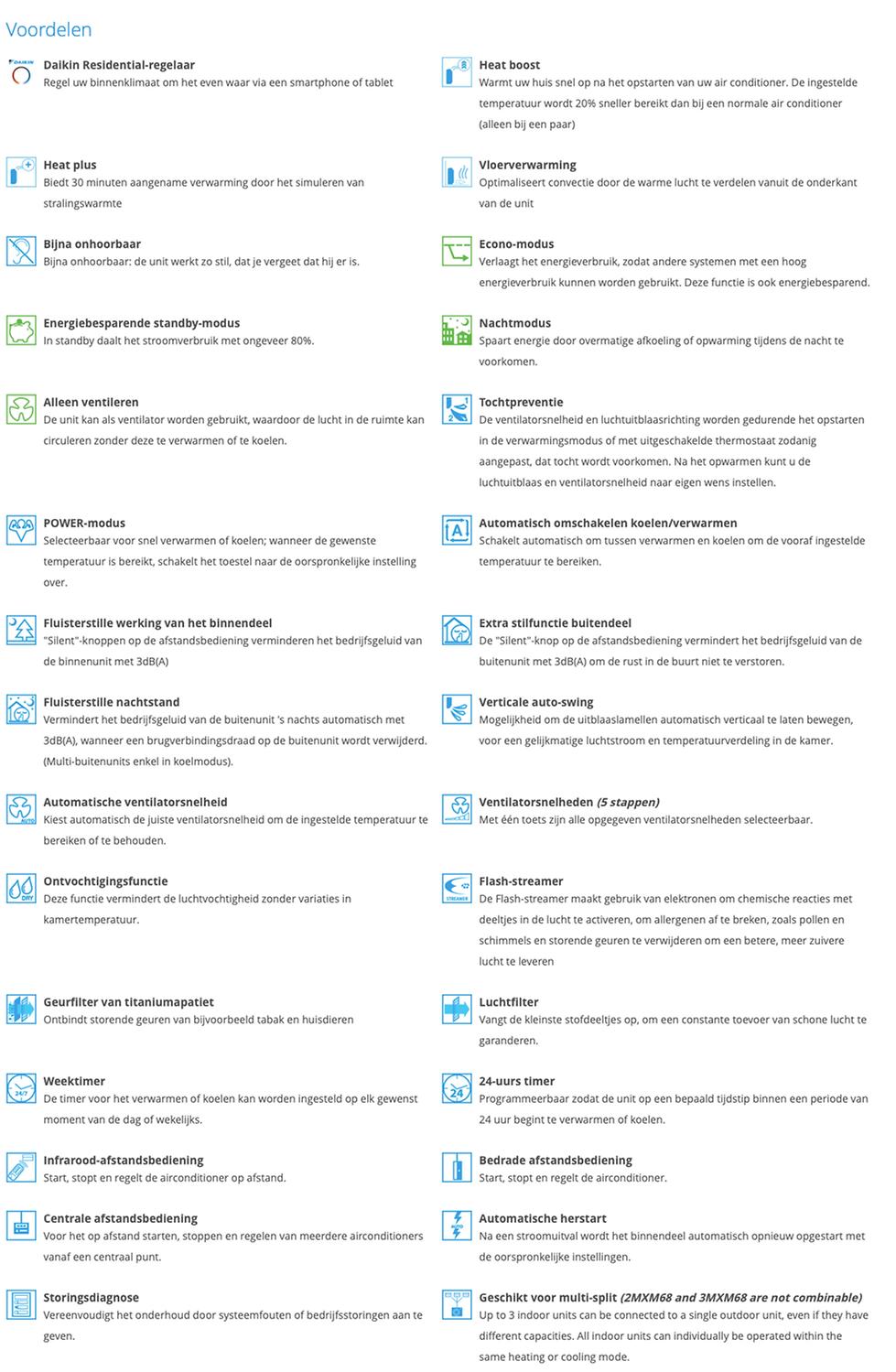 Perfera FVXM-A Voordelen pictogrammen.pn