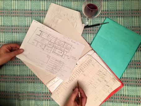 Puzzel- en rekenwerk achter glas
