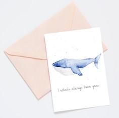 Postkarte Wal