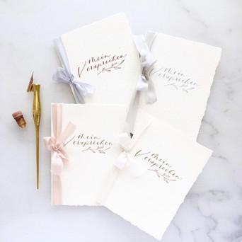 Eheversprechen Heftchen mit Kalligrafie