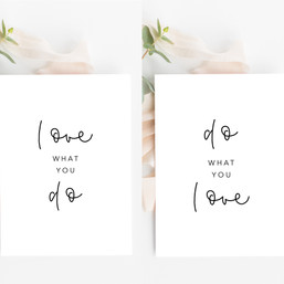 Artprint Set Love