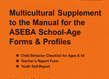 ASEBA (205) SCHOOL-AGE  MULTICULTURAL SUPPLEMENT