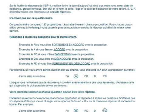 6073-10265 INDICE DE STRESS PARENTAL 4 - MATÉRIEL COMPLET