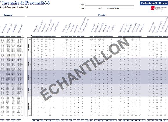 6073-67950   NEO-PI-3 PROFILS ADULTE  (PQT 25)