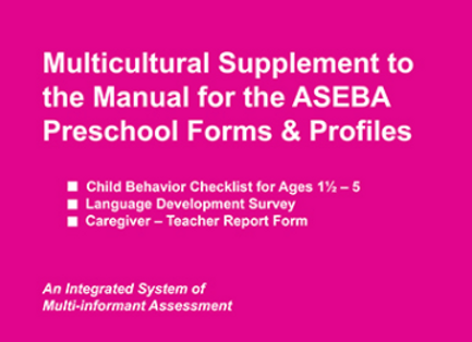 ASEBA (615) PRESCHOOL MULTICULTURAL GUIDE
