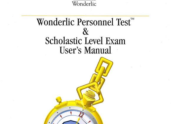 5059-71470   WONDERLIC PERSONNEL TEST FORM A EN CANADA FORMS  (PQT 25)