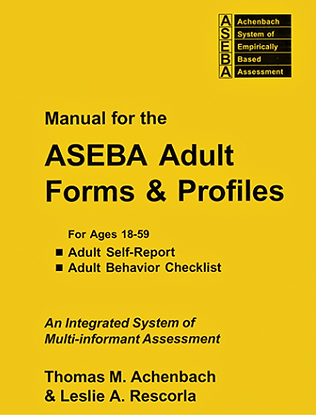 ASEBA (115) MULTICULTURAL MANUAL FOR ADULT 18-59