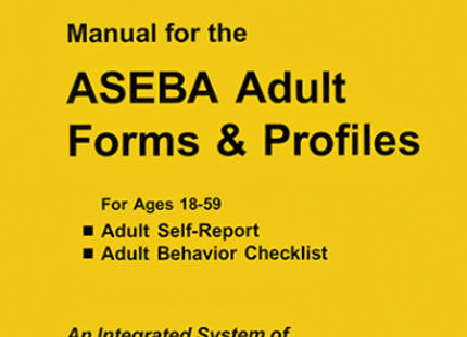 ASEBA (105) 18-59 MANUAL ADULT