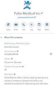 Hubspot for economic development company profile