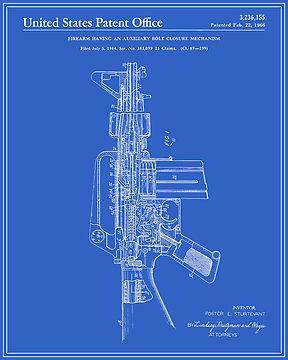 AR 15 blue print patent