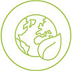 ICON FOR LOW ECOLOGICAL FOOT PRINT & NO WASTE