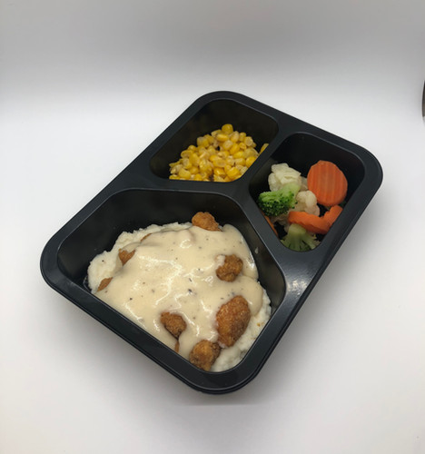 Breaded Chicken and Gravy
