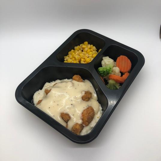 Breaded Chicken and Gravy