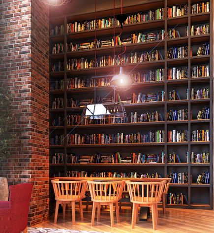 David People Cafe - Library Corner