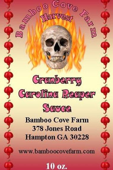 Cranberry Carolina Reaper Sauce 10 oz