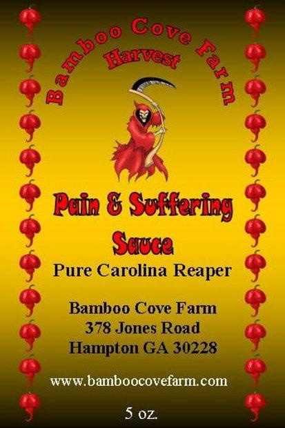 Pain & Suffering Sauce (Pure Carolina Reaper) 5 oz