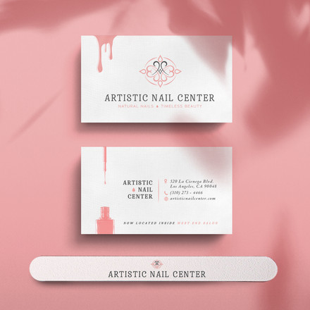 Artistic Nail Center Business Cards