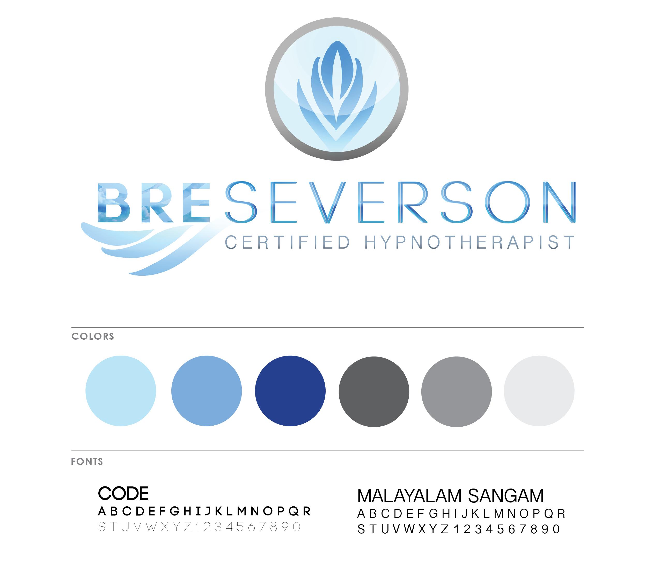 Bre Severson Hypnotherapy Branding Board