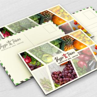 Veggie Tables Postcard