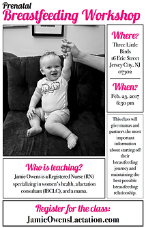 breastfeeding prenatal class in New Jersey with lactation consultant, IBCLC