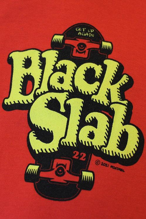 Black Slab Skate Tee - Red