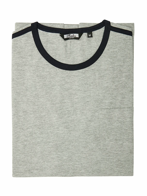 Relco Ringer Two Tee - Grey / Black