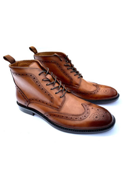 Delicious Junction Garrison Brogue Boot –Chestnut