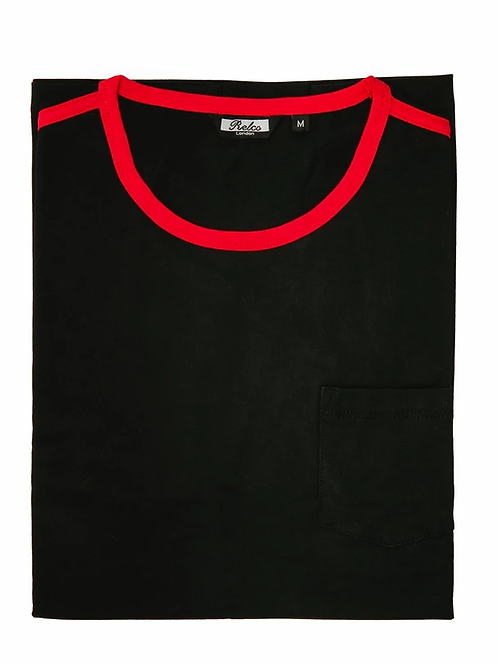 Relco Ringer Two Tee - Black / Red