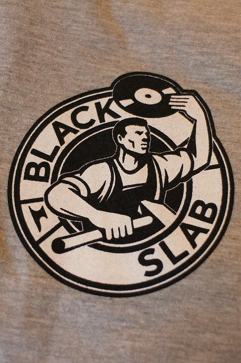 Black Slab Original 'Steely Dan' Logo Tee - Grey