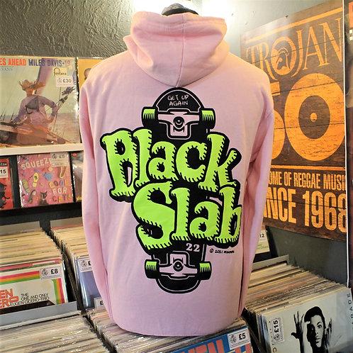 Black Slab Skate Hoodie - Pink
